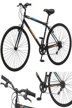 Mongoose Hotshot Hybrid Bike Mens Fitness 7 speed Bycicle 70