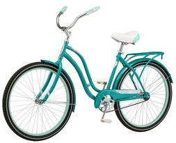 """Schwinn Huntington Bicycle 26"""" Cruiser Bike Womens teal"""