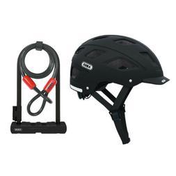 Abus Hyban Urban Bike Helmet  and Ultra 410 U-Lock Kit