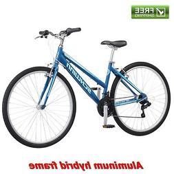Schwinn Hybrid Bike Blue 700C Women's Cruiser Alloy Frame Sp