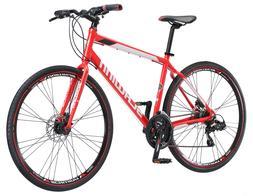 Hybrid Mens Mountain Bike 700c Schwinn Kempo 21 Speed Red  R