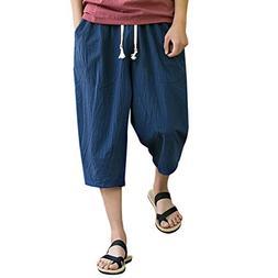 iOPQO Shorts for Men, Casual Slim Sports Pants Linen Buggy H
