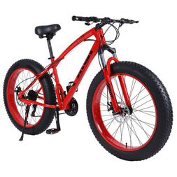 iBiky 26 Inch 21 Speed 4.0 Fat Tire Bike Snow and Grass Sand