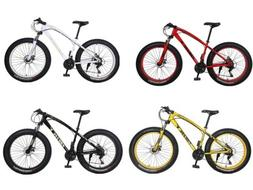 "26"" 21 Speed 4.0 Fat Tire Mountain Bike Snow Bicycle Grass S"