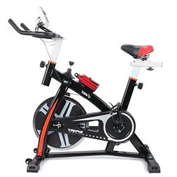 Pro Indoor Exercise Bike 40 lb Flywheel LCD Cycle Cardio Fit