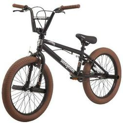 "Mongoose Jam Boy's BMX Bike 20"" Wheels Black Steel Freestyle"