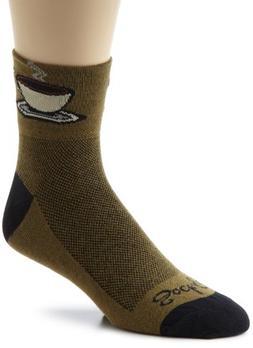 SockGuy Men's Java Socks, Green, Sock Size:10-13/Shoe Size: