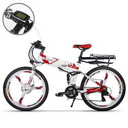 JIMAI RT-860 Mans Folding Electric Bike, Mountain Hybrid MTB