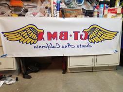 JUMBO BMX BIKE BANNER GT SANTA ANA WINGS PERFORMER 6FT X 2FT