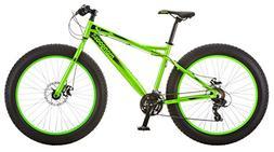 "Mongoose Juneau 26"" Fat Tire Bicycle Green, Medium frame siz"