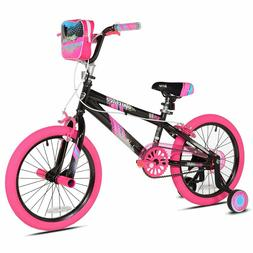 "Kent 18"" Sparkles Girl's Bike Black/Pink For Height Sizes 3'"