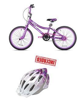 "20"" Kent 2 Cool Girls' BMX Bike, Satin Purple With Helmet In"