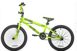 "Kent 20"" Chaos Boys BMX Bike Neon Green Single Speed Freesty"