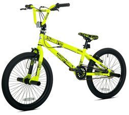 Kent 20 Thruster Chaos BMX Boy's Bike, Neon Yellow, For Heig