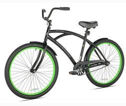 """26"""" Kent La Jolla Men's Cruiser Bike, Black/Green"""