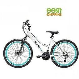 "Kent Mountain Bike 26"" White Women Bicycle Aluminum Frame Di"
