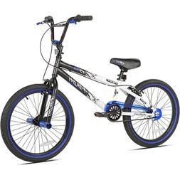 "20"" Boys Kent Ambush BMX Bike White Blue Black"