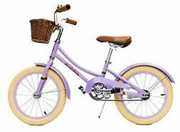 ACEGER Kid's Bike for Girls with Basket, 14 inch with Traini