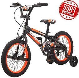 Kids 16 inch Training Wheels Bike Boys Front Rear Brake Sing