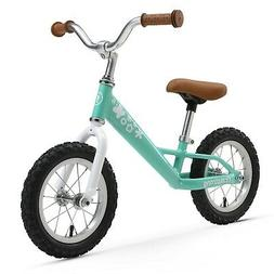 kids balance bike 12 inches mint green