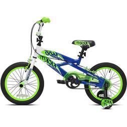 "Kids Bike Boys BMX Bicycle Ride 16"" inch Wheels Pegs Trainin"