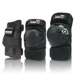 JBM Adult / Child Knee Pads Elbow Pads Wrist Guards 3 In 1 P
