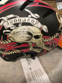 Mongoose Kroman Youth Helmet Hardshell Skulls Black NEW WITH