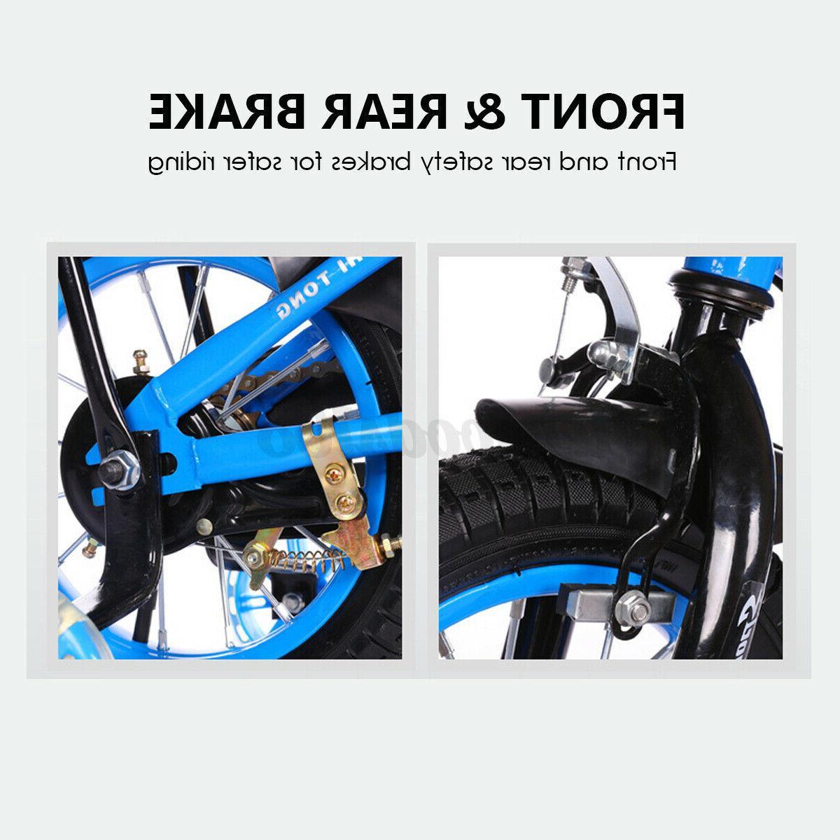 "12""/16"" Kids Bike Adjustable Training Wheel Red"