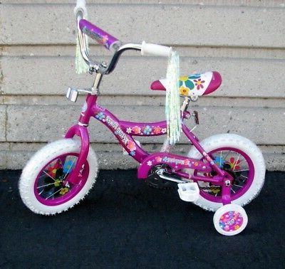 """12"""" Girl's Purple Bike Training Wheels Foot Brake 3 to 5 Yea"""