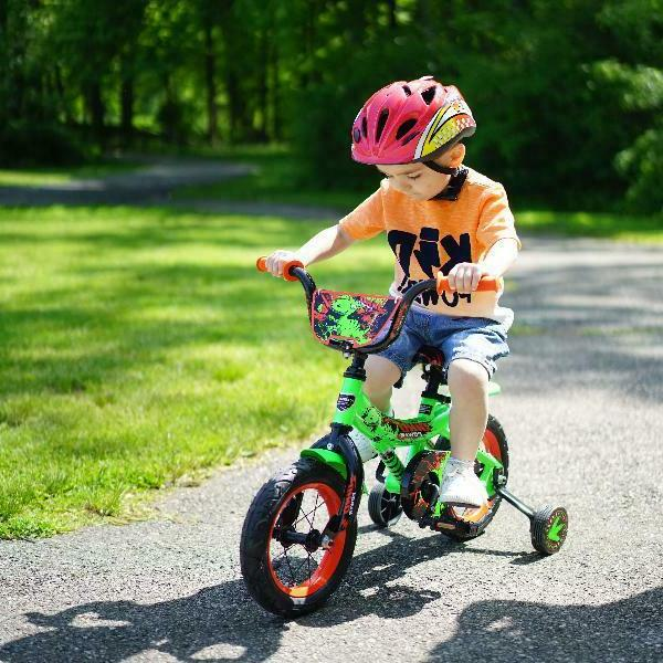 "Kent 12"" Wheel Boys Dino Power Bike Green For Ages 2-5 Years"