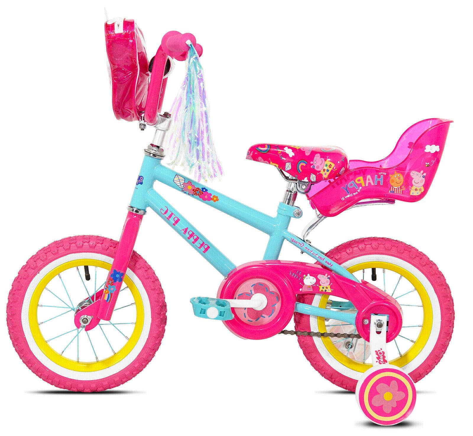 """Peppa Pig 12"""" Girl's Bike, Sizes 2'0"""" and"""