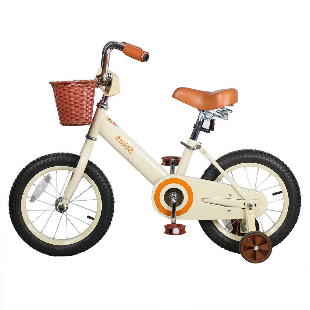 """JoyStar 14"""" Inch Classic Vintage Kids Bike with Front Basket"""