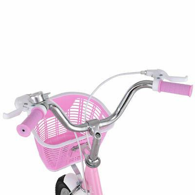"16"" Bike Children Girls with Basket Pink"