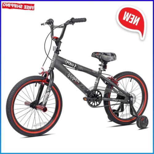18 inch abyss boys bmx bike charcoal