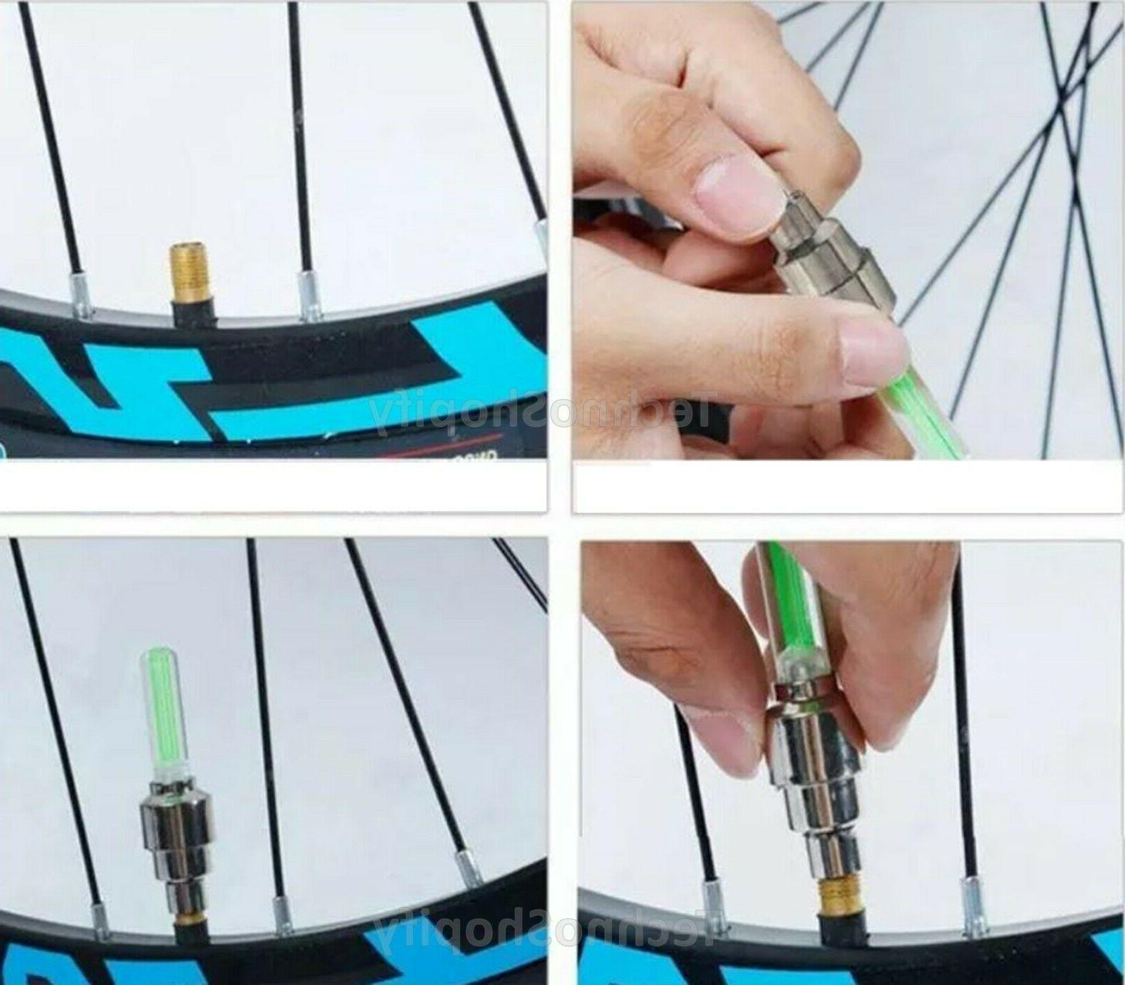 2/4 Pcs LED for Bicycle Tire