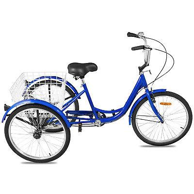 """20/24/26"""" Tricycle Speed 3-Wheel Shopping W/"""