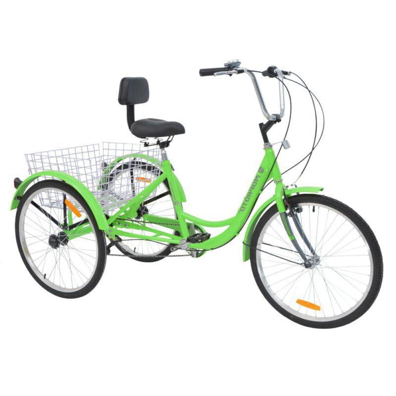 20'' 7 Speed 3-Wheel Adult Tricycle Bicycle