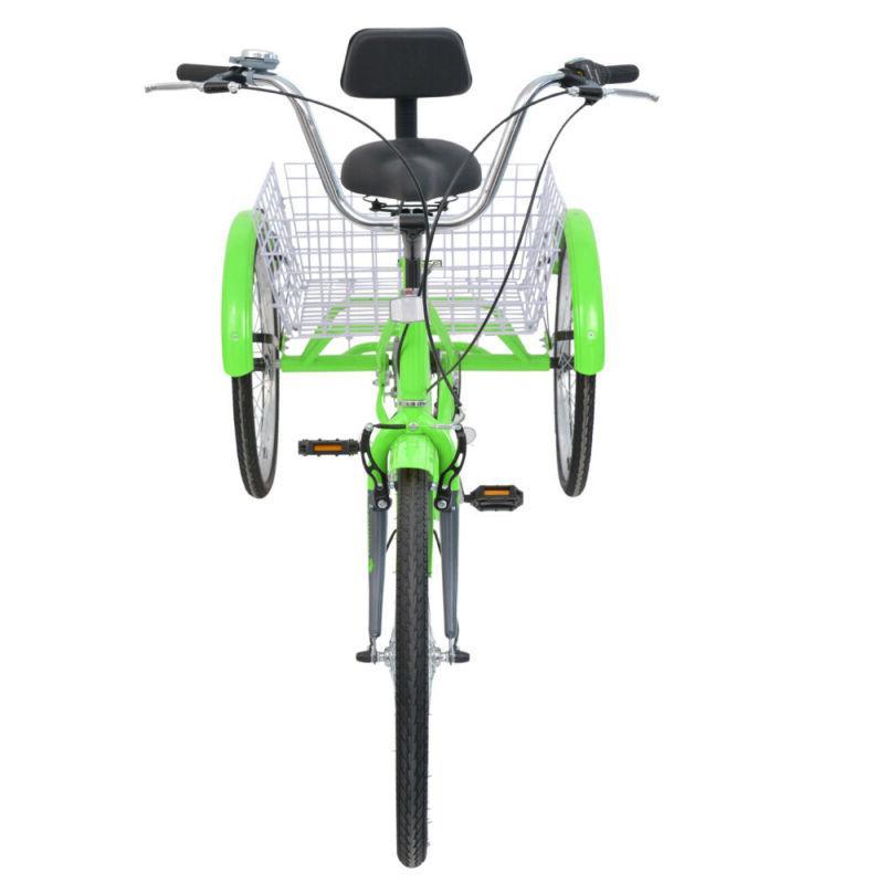 20'' 7 3-Wheel Adult Trike Bicycle w/Basket