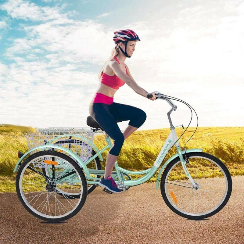 20'' 3-Wheel Adult Tricycle Bicycle w/Basket