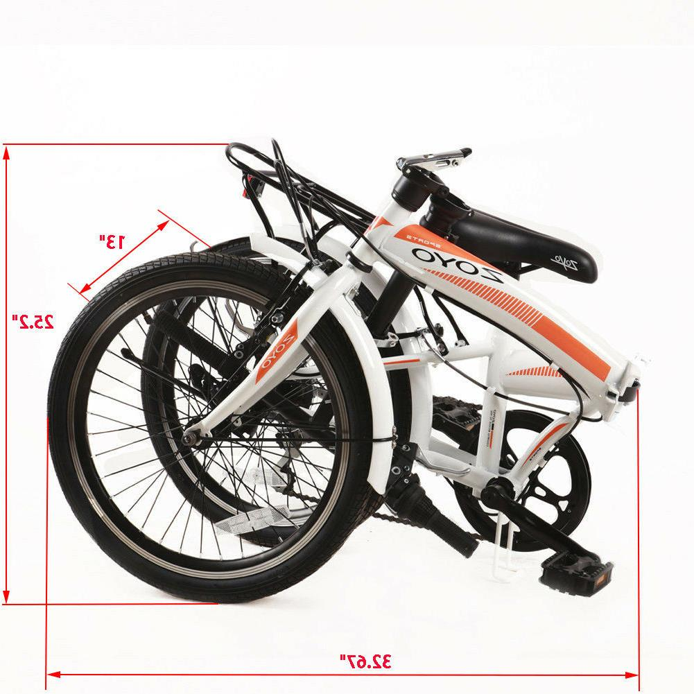 "20"" Folding Adults 7 Speeds Sports Bicycles Hi-Ten from CA"