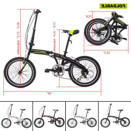 "20"" Folding Bike Front Suspension Sports Shimano"