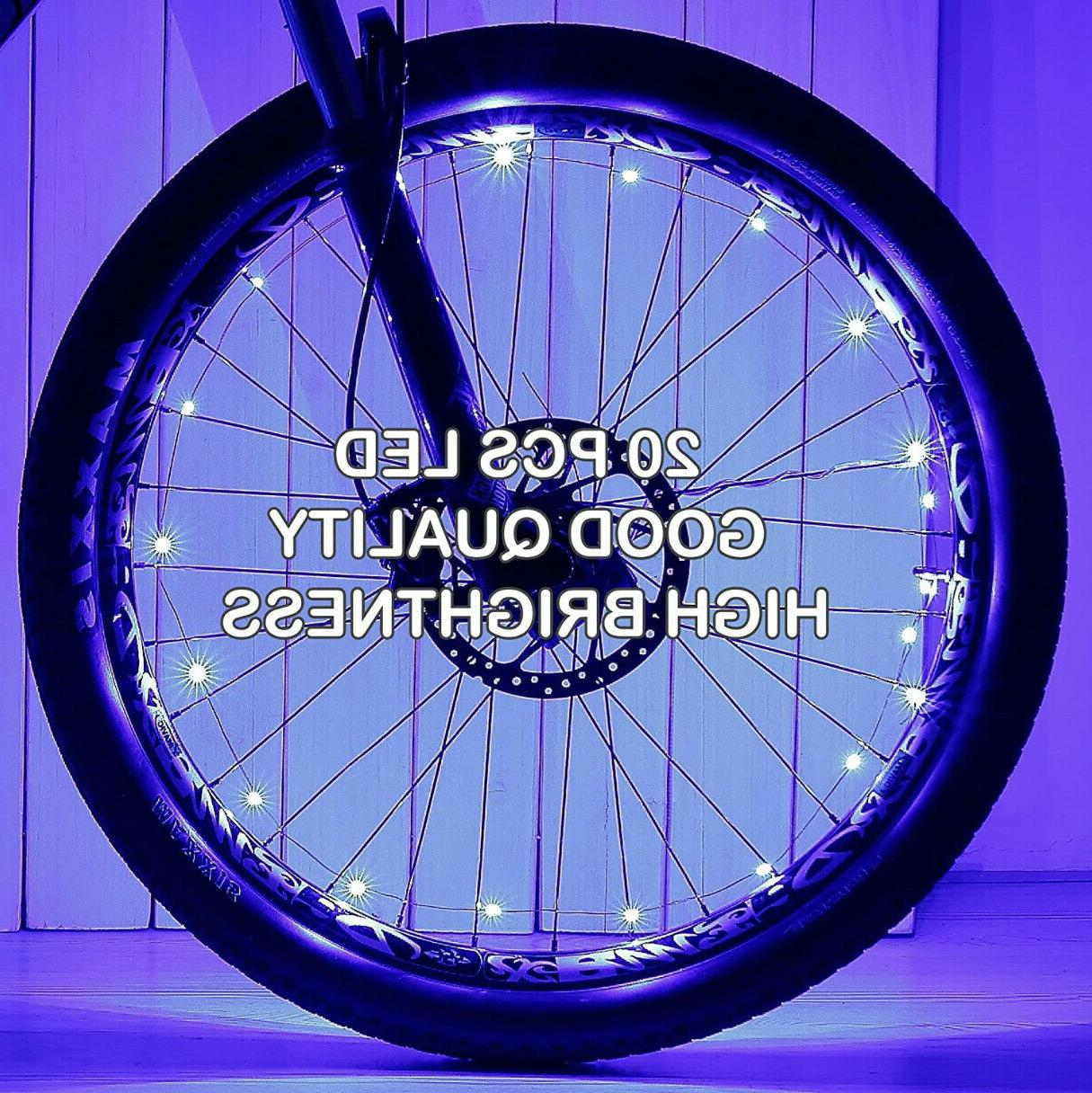 20 LED Cycling Rim Wheel On Off Light