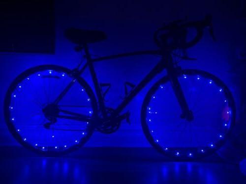 20 LED Bicycle Bike Cycling Rim On Light