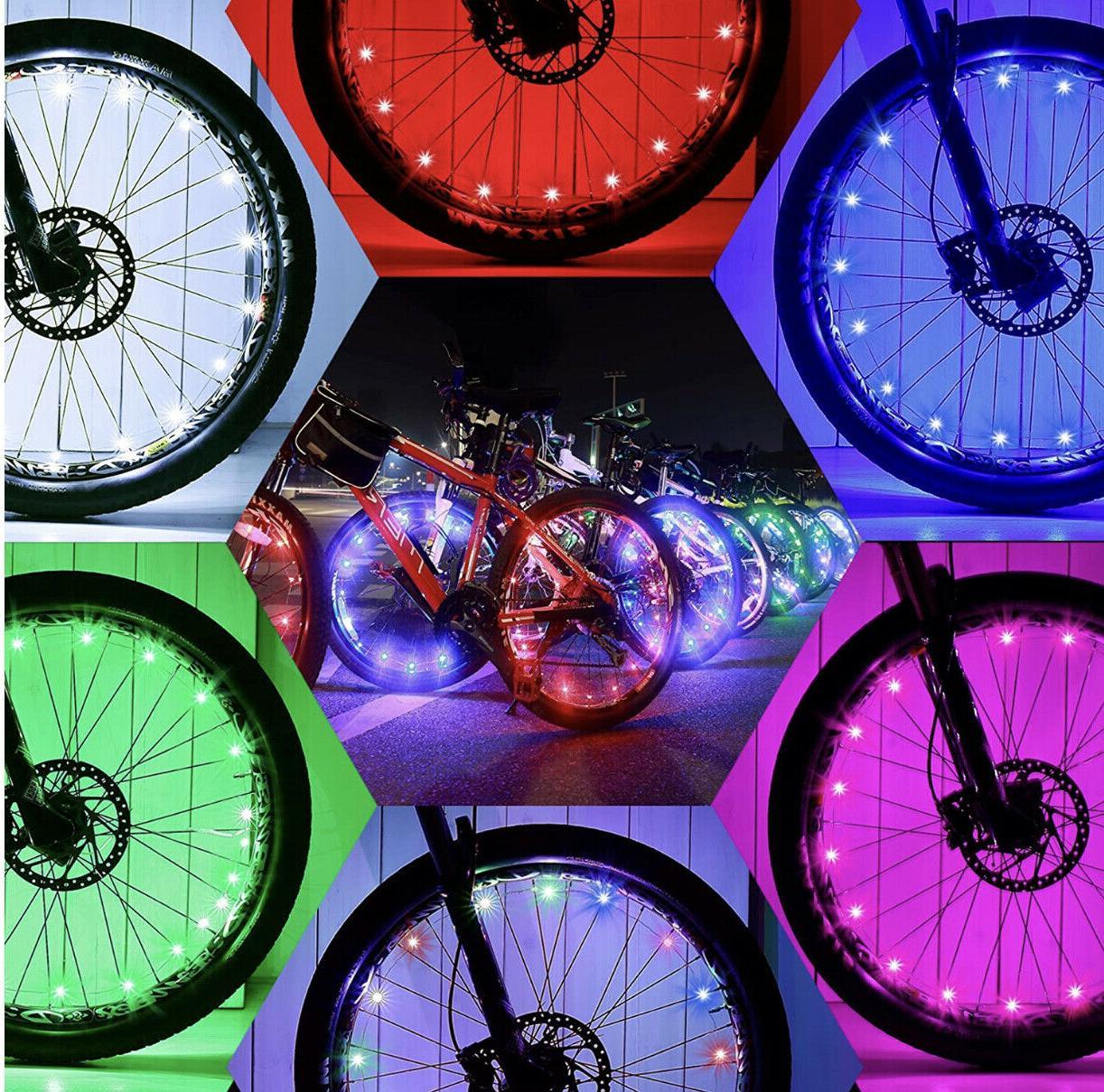 20 led bicycle bike cycling rim wheel