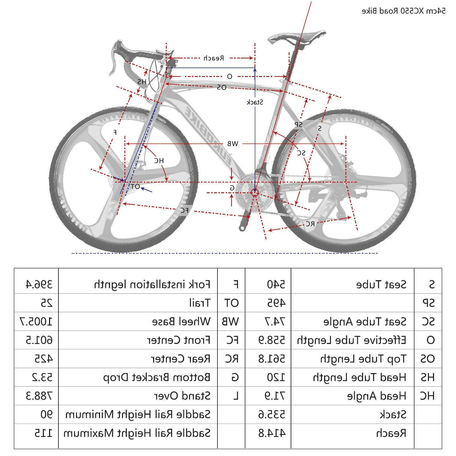 Road Bike 21 Speed Bicycle Mens Bikes Brake New