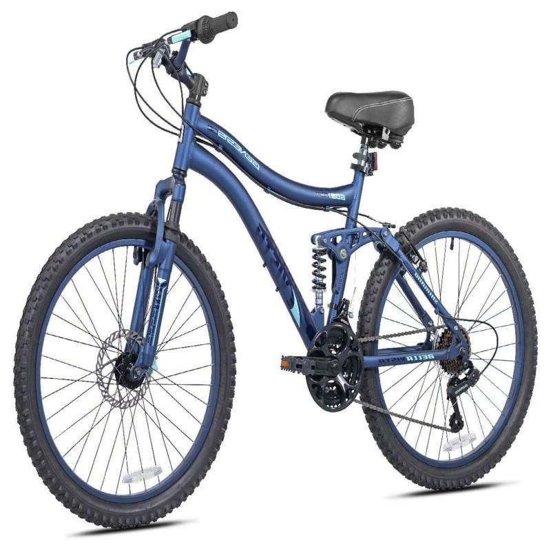 "Genesis 24"" Bella Vista Girl's Full Suspension Mountain Bike"