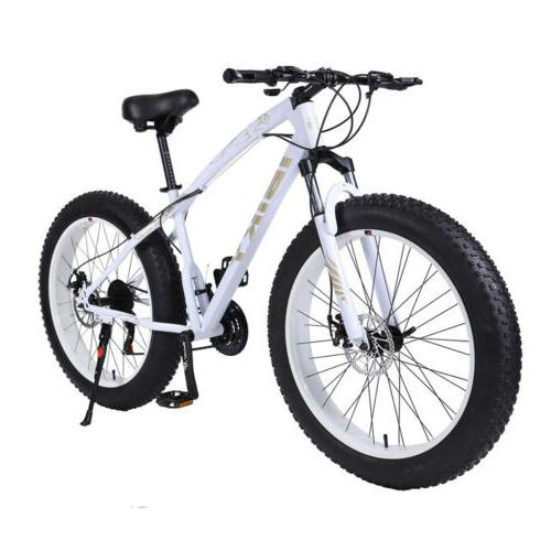 Fat Bike 26Inch 21Speed Sand,Snow Mountain Bike 4.0 Fat Tyre