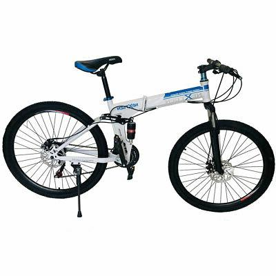 26 21 speed shimano foldable full suspension