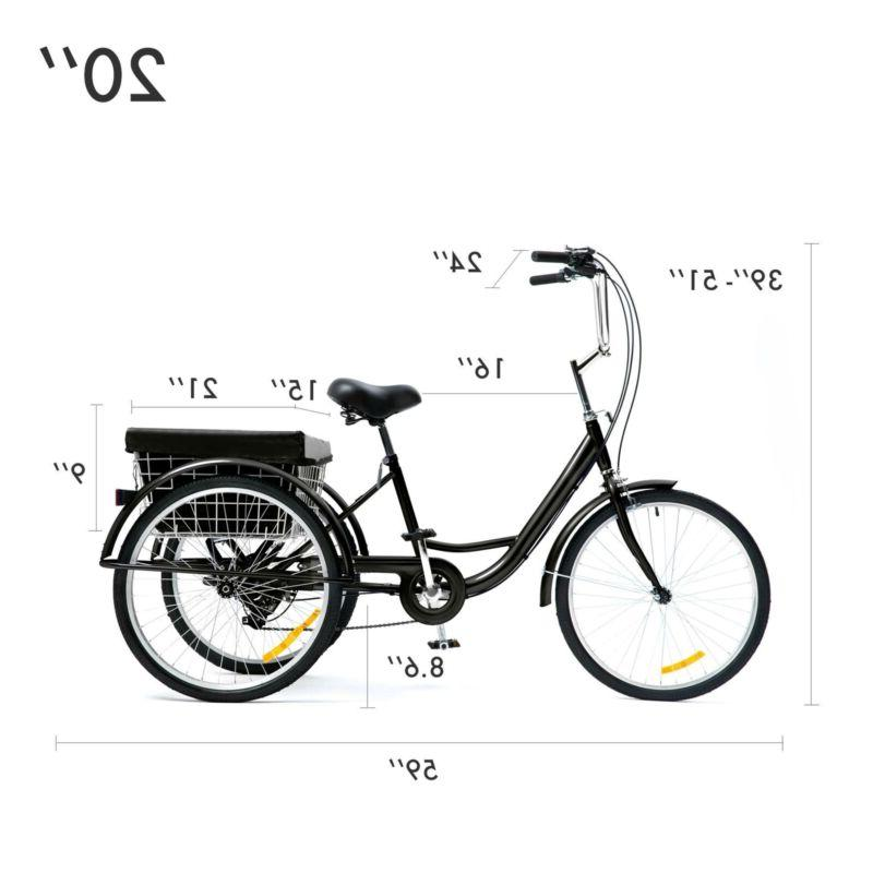 "26""/24""/20"" Tricycle Bike Large"