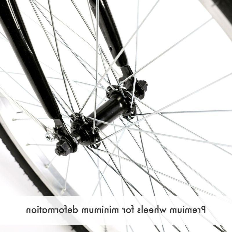 "26""/24""/20"" 8 Speed Adult Trike Tricycle 3-Wheel Bike w/Basket for Shopping"